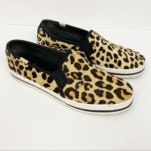 Kate Spade x Keds • Leopard Slip Ons